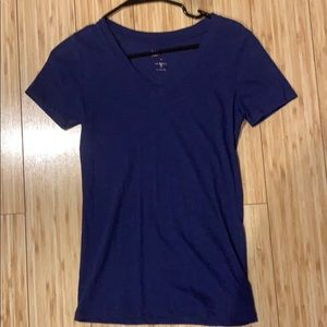 Navy Blue V-Neck T-Shirt Women